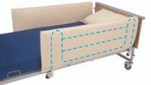 Cot Sides with Bumper Panels